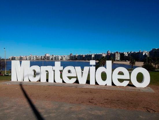 Letreiro de Montevidéu em Pocitos