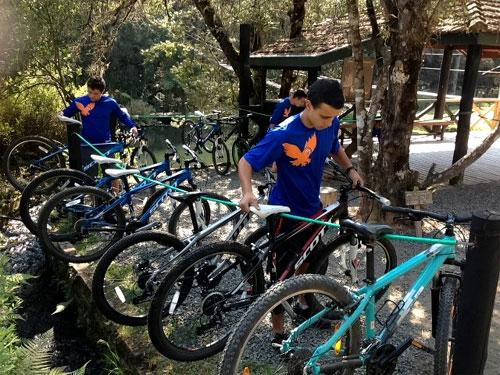 Aluguel de bicicletas no Horto Florestal de Campos do Jordão